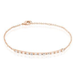 Bracelet Merya Plaque Or Rose Oxyde De Zirconium - Bracelets fantaisie Femme | Histoire d'Or