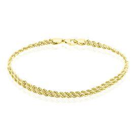 Bracelet Jerry Or Jaune Maille Corde - Bracelets chaîne Femme   Histoire d'Or