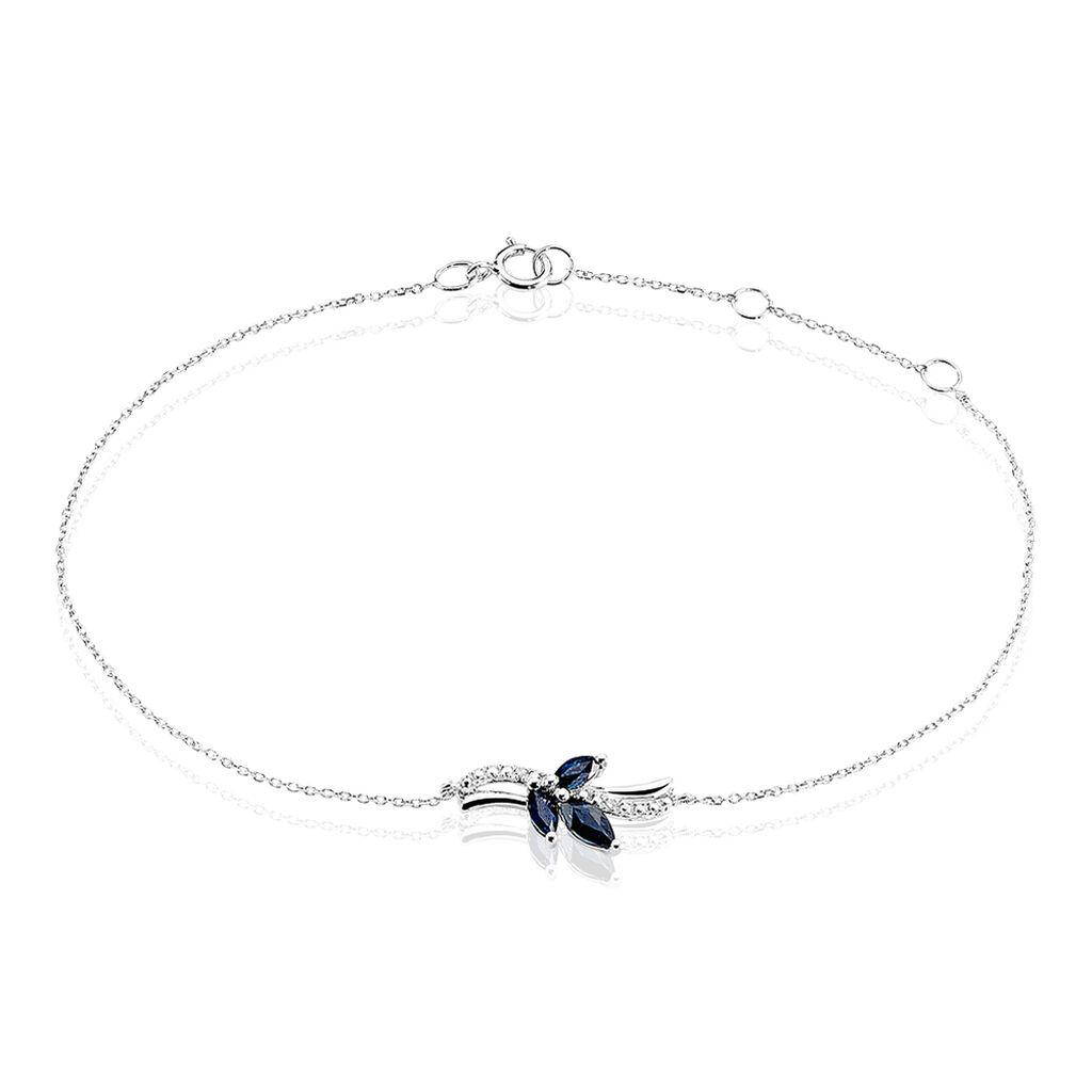 Bracelet Angie Or Blanc Saphir Diamant - Bijoux Femme   Histoire d'Or