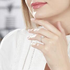 Bague Solitaire Rosalba Or Blanc Oxyde De Zirconium - Bagues Plume Femme | Histoire d'Or