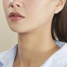 Boucles D'oreilles Puces Ursulina Or Jaune Perle De Culture - Clous d'oreilles Femme | Histoire d'Or