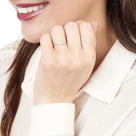 Bague Adhira Or Rose Diamant - Bagues avec pierre Femme   Histoire d'Or