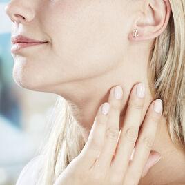 Boucles D'oreilles Pendantes Edmee Cercle Or Jaune Oxyde De Zirconium - Boucles d'Oreilles Coeur Femme | Histoire d'Or