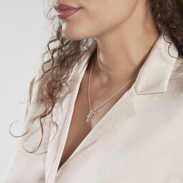Pendentif Canice Croix Or Blanc Oxyde De Zirconium - Pendentifs Croix Femme | Histoire d'Or