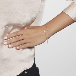 Bracelet Savino Argent Rhodié Perle De Culture - Bracelets fantaisie Femme   Histoire d'Or