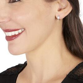 Créoles Timira Rondes Or Blanc Diamant - Boucles d'oreilles créoles Femme | Histoire d'Or