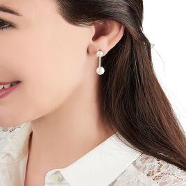 Bijoux D'oreilles Sandia Or Jaune Perle De Culture Oxyde De Zirconium - Ear cuffs Femme | Histoire d'Or
