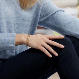 Bracelet Jonc Amour Acier Jaune - Bracelets fantaisie Femme   Histoire d'Or