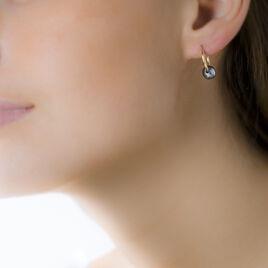 Boucles D'oreilles Puces Suraya Or Jaune Perle De Culture - Boucles d'oreilles créoles Femme | Histoire d'Or