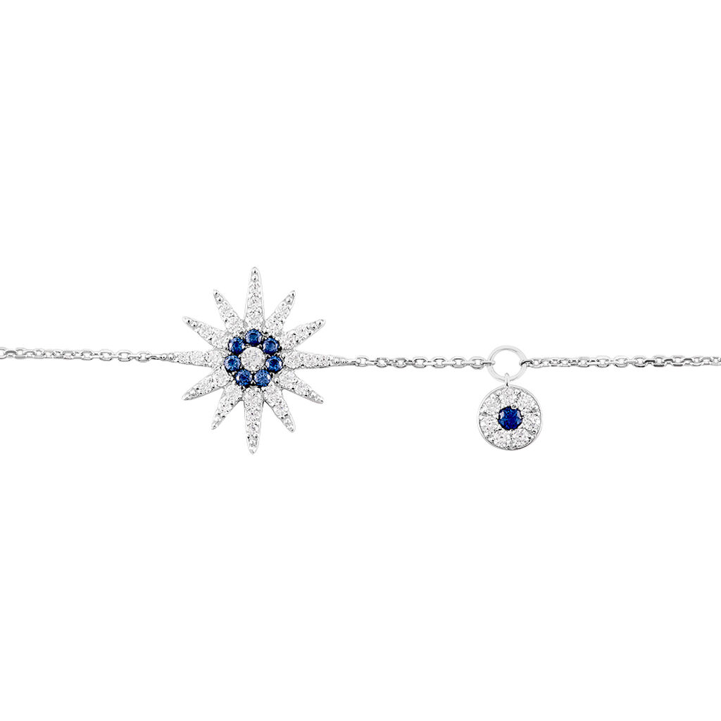 Bracelet Bekhta Or Blanc Oxyde De Zirconium - Bijoux Etoile Femme   Histoire d'Or