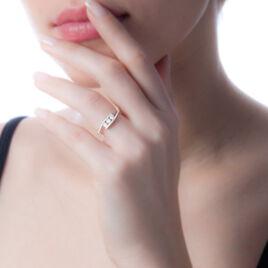 Bague Eternite Or Blanc Diamant - Bagues avec pierre Femme   Histoire d'Or