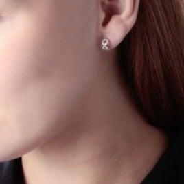 Boucles D'oreilles Puces Kalida Or Jaune Oxyde De Zirconium - Boucles d'Oreilles Infini Femme | Histoire d'Or
