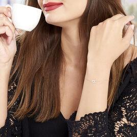 Bracelet Brunehaut Or Jaune Diamant - Bracelets Coeur Femme   Histoire d'Or