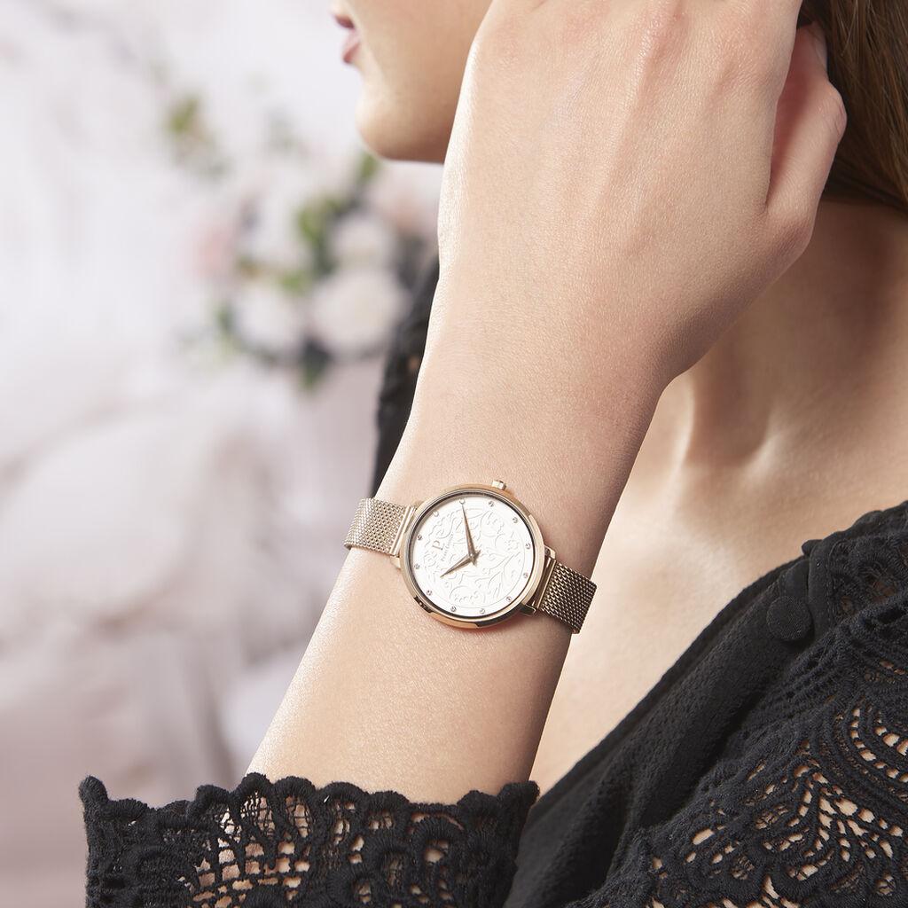 Montre Pierre Lannier Elegance Eolia Blanc - Montres tendances Femme | Histoire d'Or