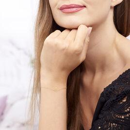 Bracelet Gillian Or Jaune - Bracelets Plume Femme | Histoire d'Or