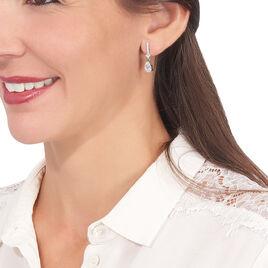 Boucles D'oreilles Pendantes Eowyn Argent Blanc Oxyde De Zirconium - Boucles d'oreilles fantaisie Femme | Histoire d'Or