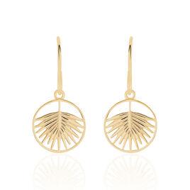 Boucles D'oreilles Pendantes Plamira Plaque Or Jaune - Boucles d'Oreilles Plume Femme | Histoire d'Or