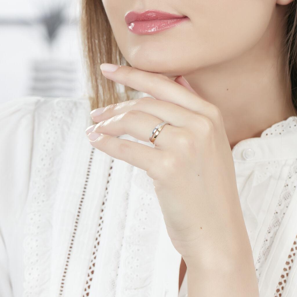 Bague Renda Or Jaune Diamant - Bagues avec pierre Femme | Histoire d'Or