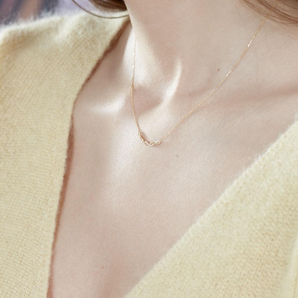 Collier Carolyne Or Jaune Oxyde De Zirconium - Bijoux Femme | Histoire d'Or