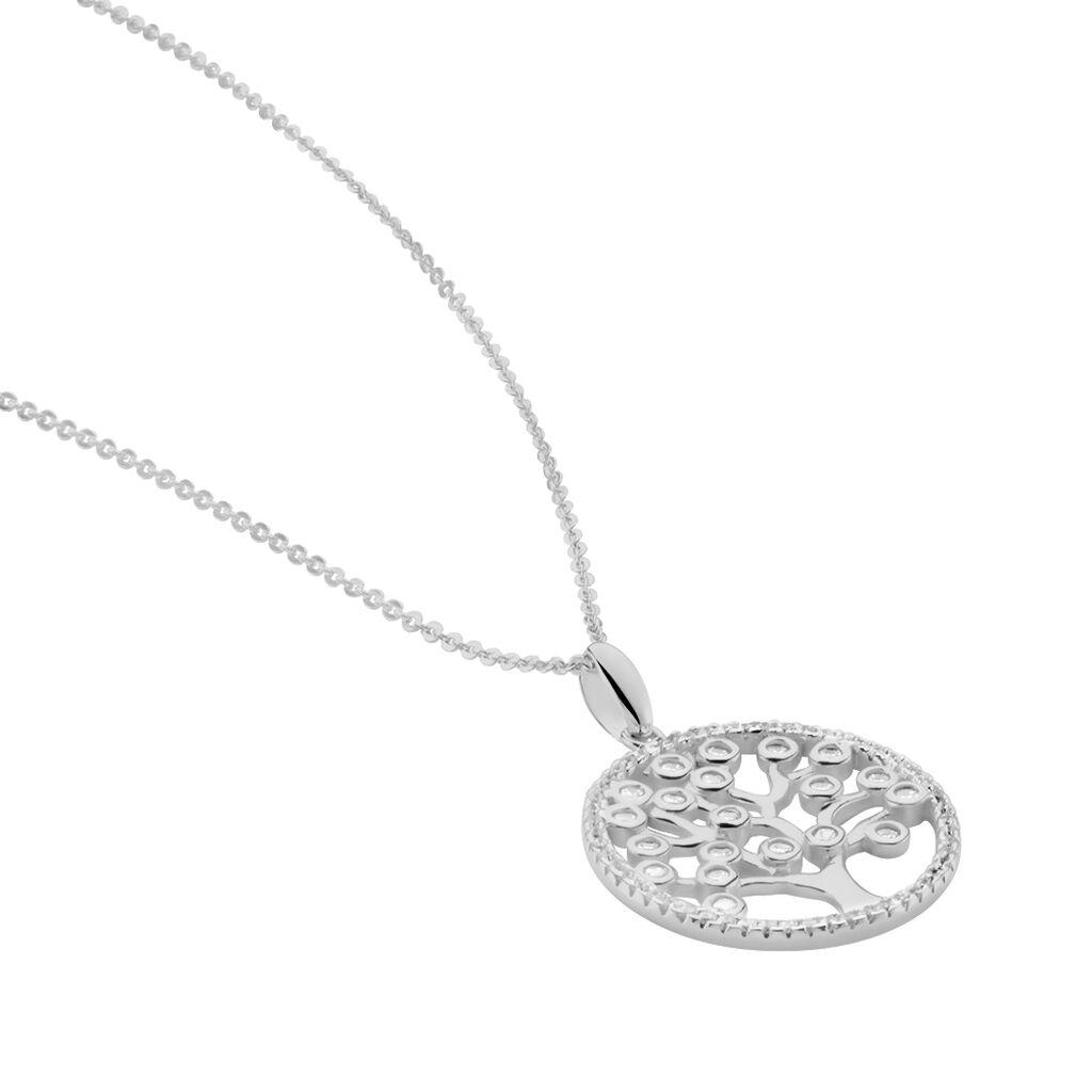 Collier Chimere Argent Blanc Oxyde De Zirconium - Colliers Arbre de vie Femme | Histoire d'Or
