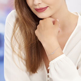 Bracelet Irina Argent Blanc Oxyde De Zirconium - Bracelets fantaisie Femme | Histoire d'Or