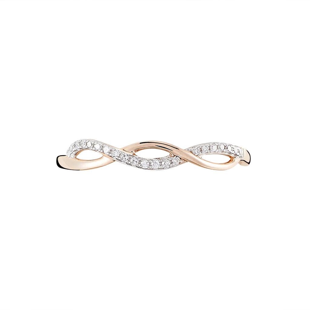 Bague Alizee Or Rose Diamant - Bagues avec pierre Femme | Histoire d'Or