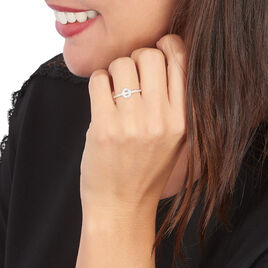 Bague Joye Or Blanc Oxyde De Zirconium - Bagues avec pierre Femme   Histoire d'Or