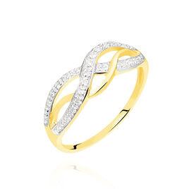 Bague Vaguelette Or Jaune Diamant - Bagues avec pierre Femme | Histoire d'Or