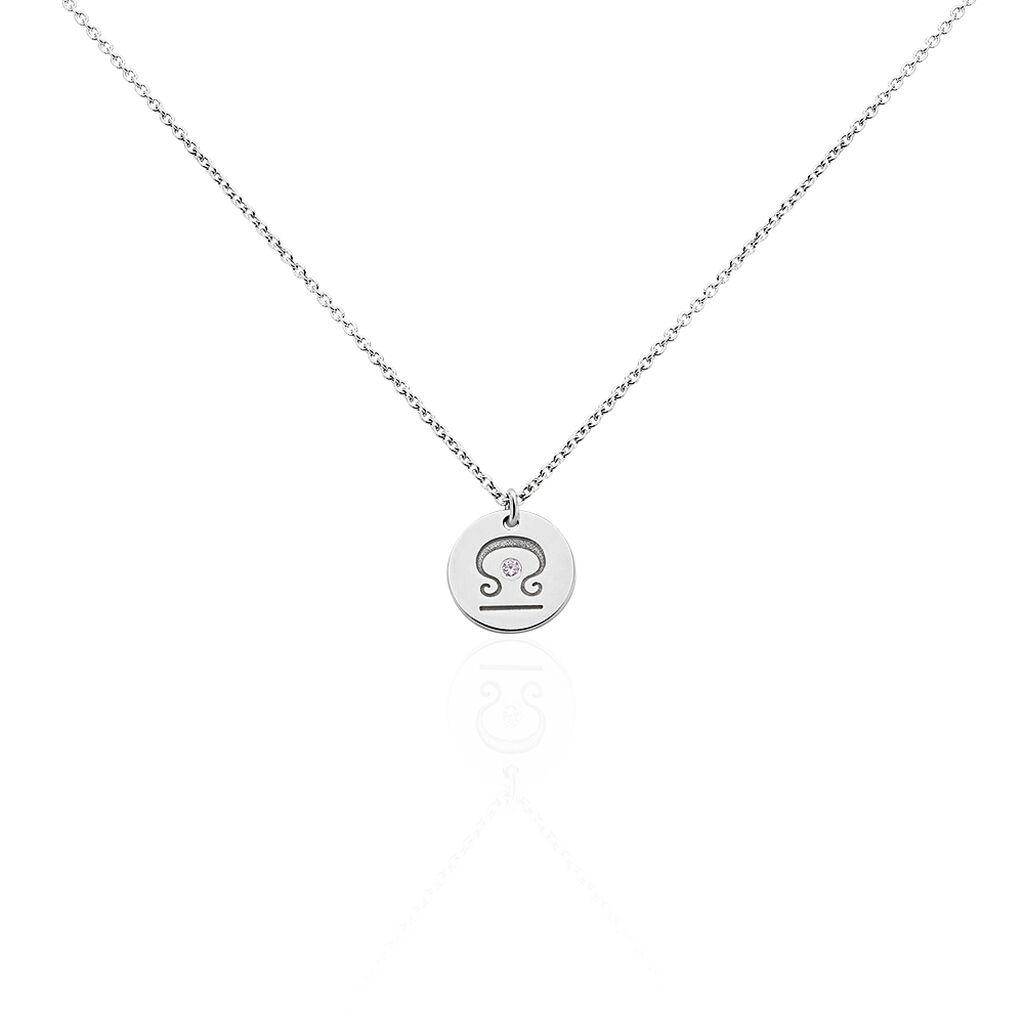 Collier Bangkok Argent Blanc Oxyde De Zirconium - Colliers Zodiaque Femme   Histoire d'Or