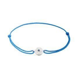 Bracelet Einatae Or Blanc Saphir - Bracelets cordon Femme | Histoire d'Or