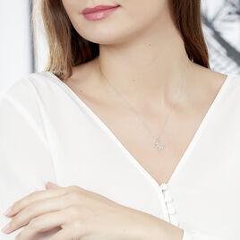 Collier Roxine Or Blanc Diamant - Colliers Lune Femme | Histoire d'Or