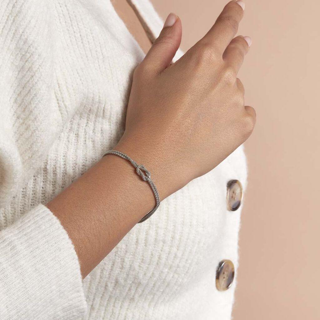 Bracelet Firouz Argent Blanc - Bracelets fantaisie Femme | Histoire d'Or