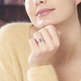 Bague Priska Or Blanc Topaze Et Oxyde De Zirconium - Bagues avec pierre Femme   Histoire d'Or