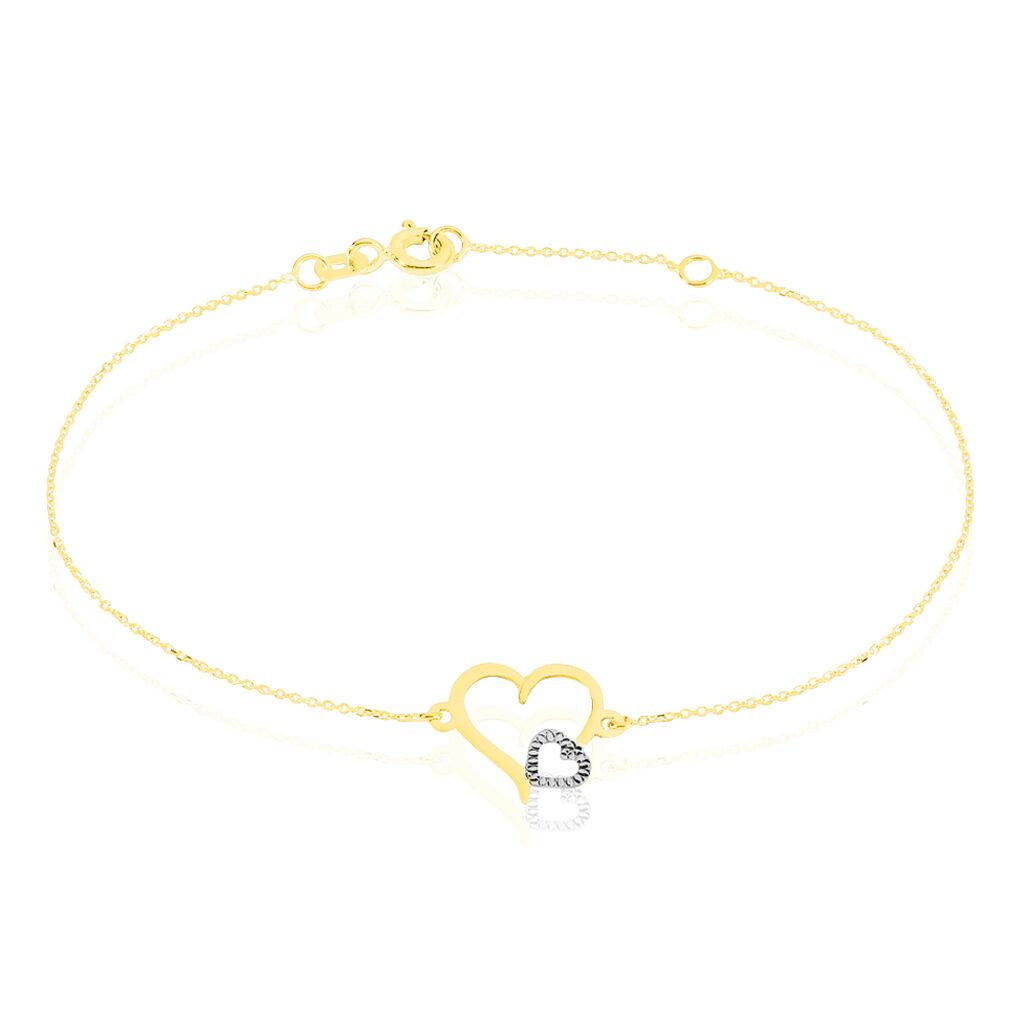 Bracelet Estello Or Bicolore - Bracelets Coeur Femme | Histoire d'Or