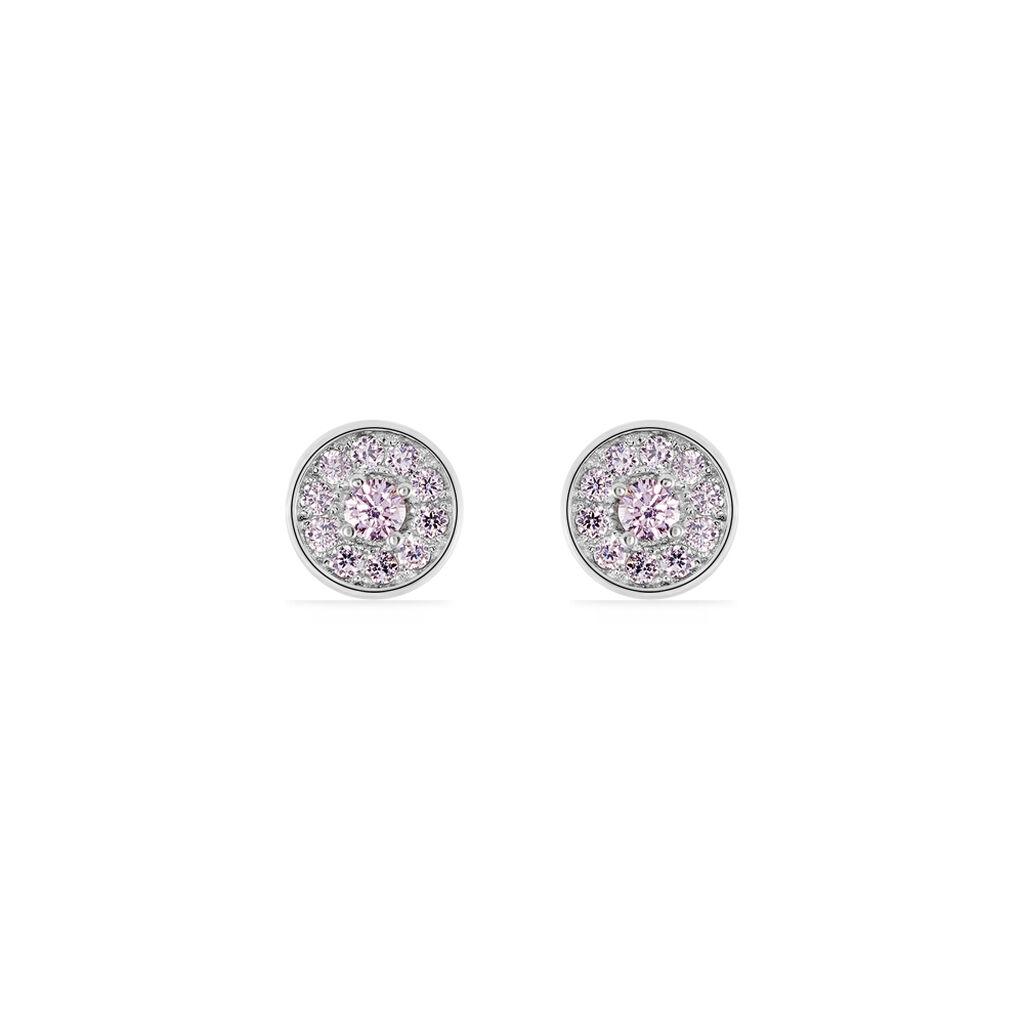 Boucles D'oreilles Puces Auxana Argent Blanc Oxyde De Zirconium - Boucles d'oreilles fantaisie Femme | Histoire d'Or