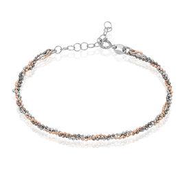 Bracelet Gabriela Argent Blanc - Bracelets fantaisie Femme   Histoire d'Or