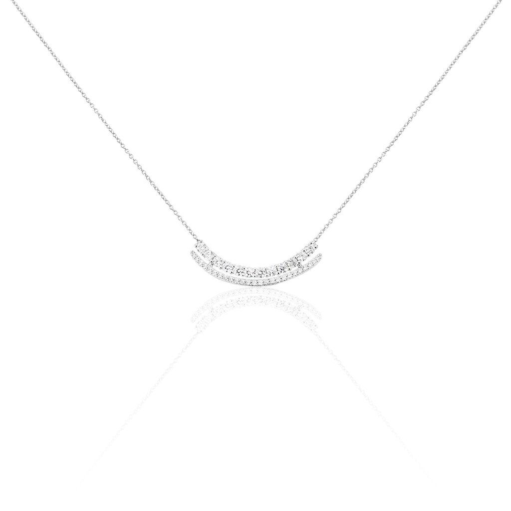 Collier Or Blanc Oxyde De Zirconium - Bijoux Femme | Histoire d'Or