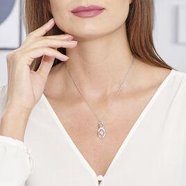 Collier Bernetta Argent Blanc Oxyde De Zirconium - Colliers fantaisie Femme   Histoire d'Or