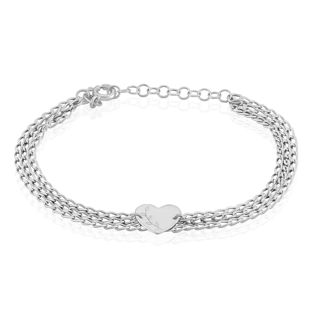 Bracelet Irenea Argent Blanc - Bracelets Plume Femme   Histoire d'Or