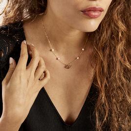 Collier Cenzo Or Jaune  Perles De Culture - Colliers Coeur Femme | Histoire d'Or