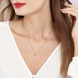 Collier Phanie Argent Rose Oxyde De Zirconium - Colliers Coeur Femme | Histoire d'Or