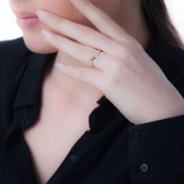 Bague Trieste Or Jaune Rubis Et Diamant - Bagues avec pierre Femme   Histoire d'Or