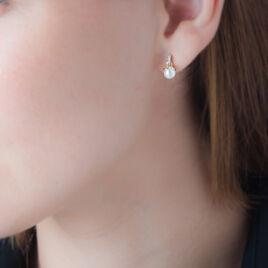 Boucles D'oreilles Pendantes Delight Or Jaune Perle De Culture - Boucles d'oreilles pendantes Femme | Histoire d'Or