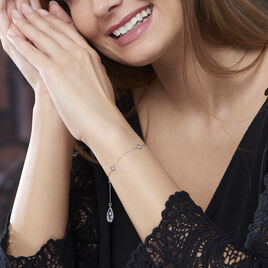 Bracelet Dennis Or Blanc Topaze - Bijoux Femme | Histoire d'Or
