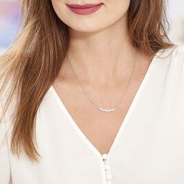 Collier Lerzan Argent Blanc Oxyde De Zirconium - Colliers fantaisie Femme   Histoire d'Or