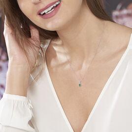 Collier Andrea Or Blanc Emeraude Et Diamant - Bijoux Femme | Histoire d'Or