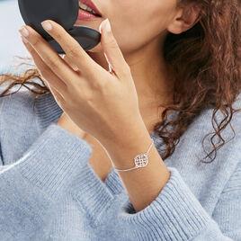 Bracelet Lev Argent Blanc - Bracelets fantaisie Femme | Histoire d'Or