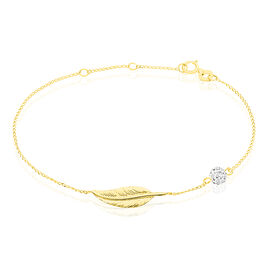 Bracelet Or Et Pierre - Bracelets Plume Femme | Histoire d'Or