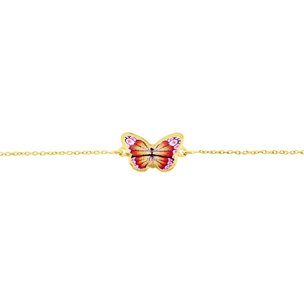Bracelet Sulivia Papillon Or Jaune - Bracelets Baptême Enfant   Histoire d'Or