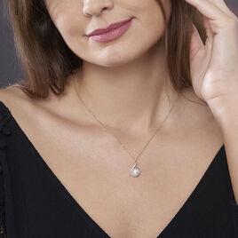 Collier Lucinda Or Jaune Perle De Culture Et Oxyde De Zirconium - Bijoux Femme | Histoire d'Or